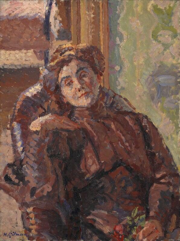 Stanislawa Bevan (née de Karlowska), by Harold Gilman, circa 1913 - NPG 6878 - © National Portrait Gallery, London