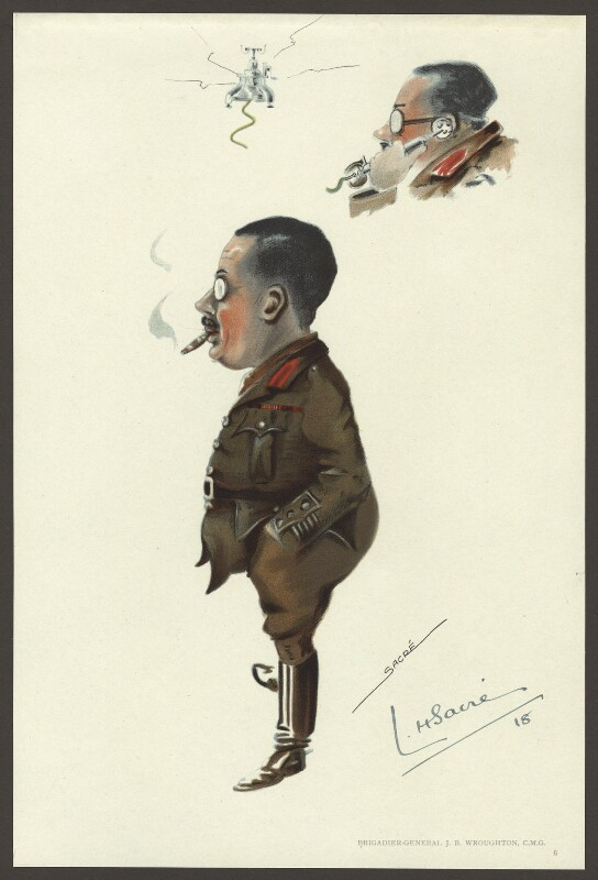 John Bartholomew Wroughton, by Lester Howard Sacré, published 1918 - NPG D33963 - © estate of Lester Howard Sacré / National Portrait Gallery, London