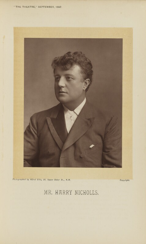 Harry Nicholls, by Alfred Ellis, published by  Simpkin, Marshall, Hamilton, Kent & Co, published 1 September 1897 - NPG Ax28899 - © National Portrait Gallery, London