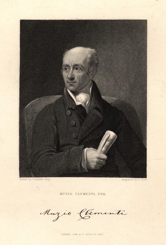 Muzio Clementi, by Henry Richard Cook, after  James Lonsdale, published 1833 - NPG D9341 - © National Portrait Gallery, London