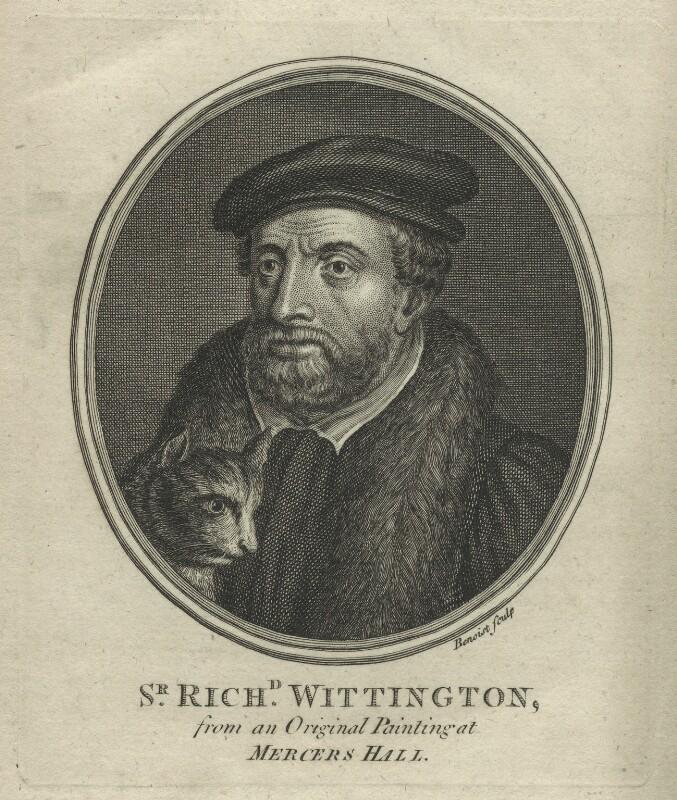 Fictitious portrait of Richard ('Dick') Whittington, by Guillaume Philippe Benoist, 1766 - NPG D33978 - © National Portrait Gallery, London