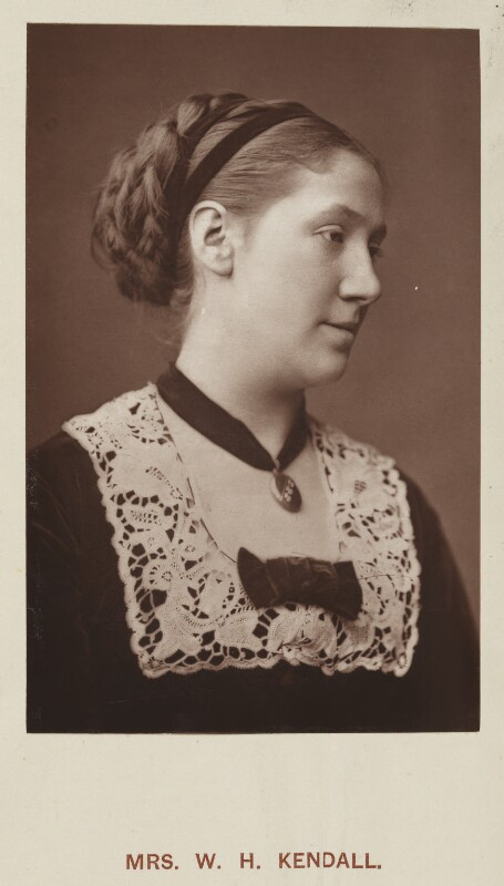Madge Kendal, by Unknown photographer, published by  Hardwicke & Bogue, published 1879 - NPG Ax45751 - © National Portrait Gallery, London