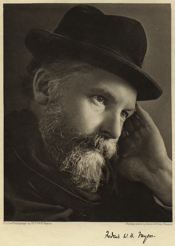 Frederic William Henry Myers, by Eveleen Myers (née Tennant), late 1890s - NPG x21466 - © National Portrait Gallery, London