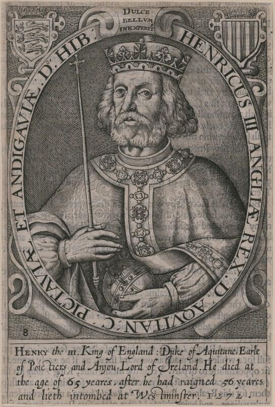 King Henry III, by Renold or Reginold Elstrack (Elstracke), published 1638 or 1662 (Engraved 1618) - NPG D33883 - © National Portrait Gallery, London