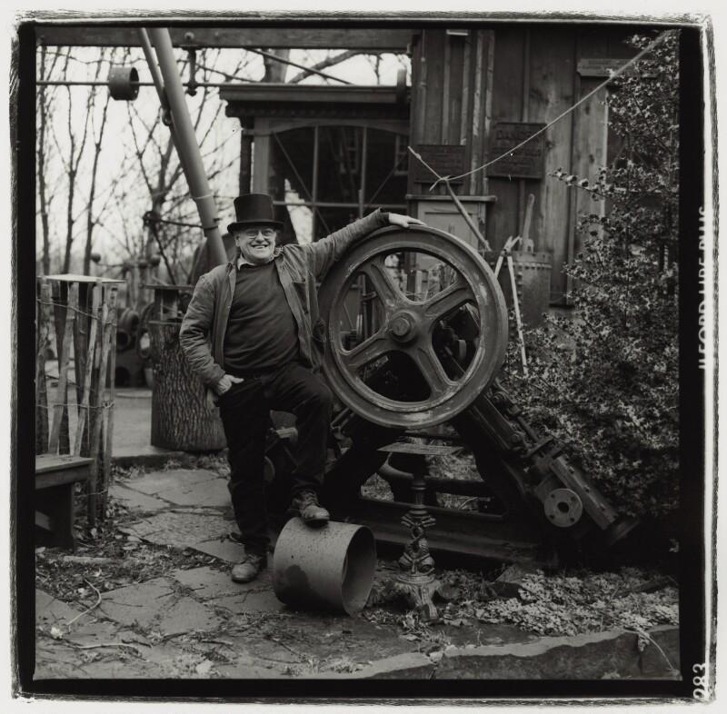 Fred Dibnah, by Paul Wolfgang Webster, 1996 - NPG x132241 - © Paul Wolfgang Webster / National Portrait Gallery, London