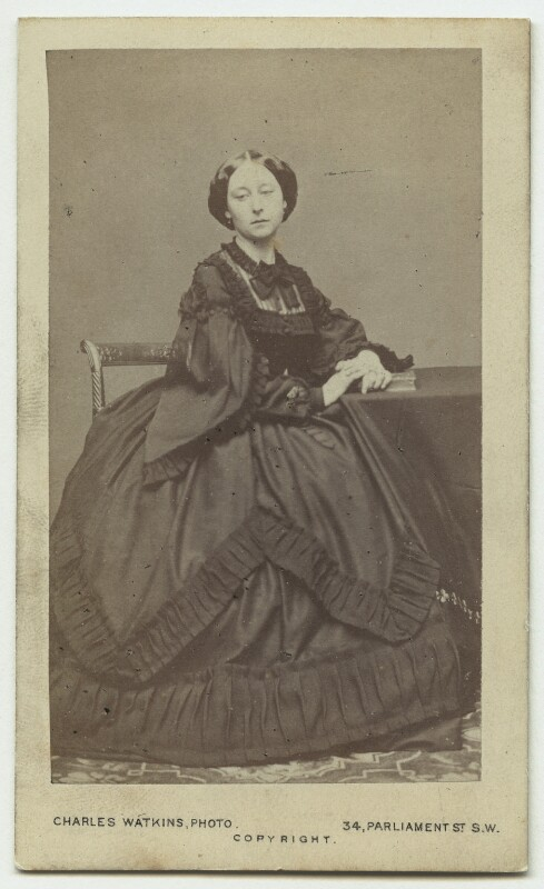 Princess Alice, Grand Duchess of Hesse, by (Octavius) Charles Watkins, circa 1861 - NPG x132242 - © National Portrait Gallery, London