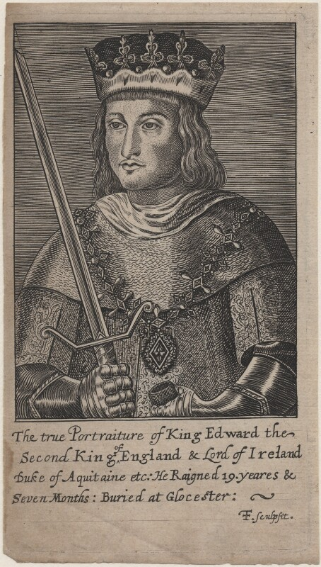 King Edward II, by F.F., after  Unknown artist, 17th century - NPG D33895 - © National Portrait Gallery, London