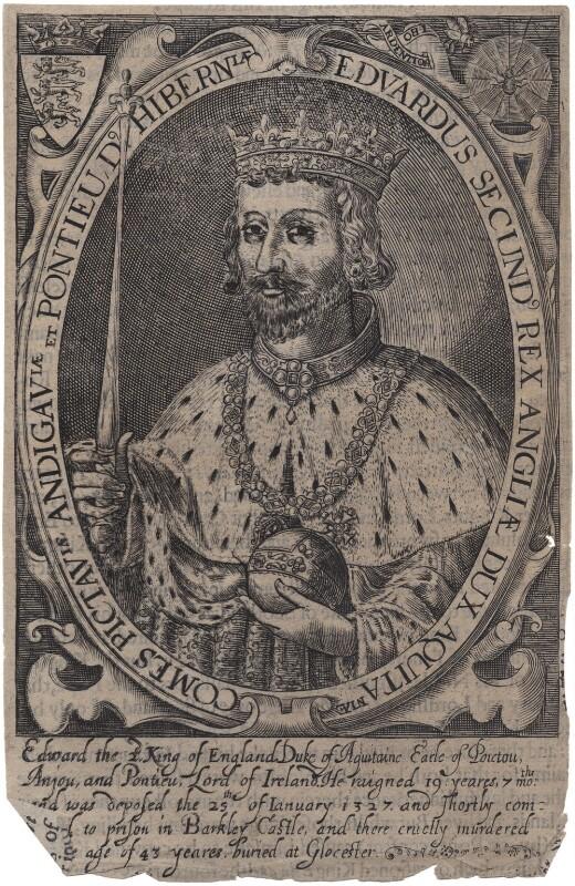 King Edward II, by Renold or Reginold Elstrack (Elstracke), 1618 - NPG D33890 - © National Portrait Gallery, London