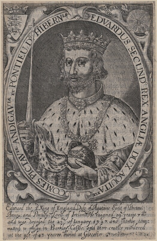 King Edward II, by Renold or Reginold Elstrack (Elstracke), 1618 - NPG D33891 - © National Portrait Gallery, London