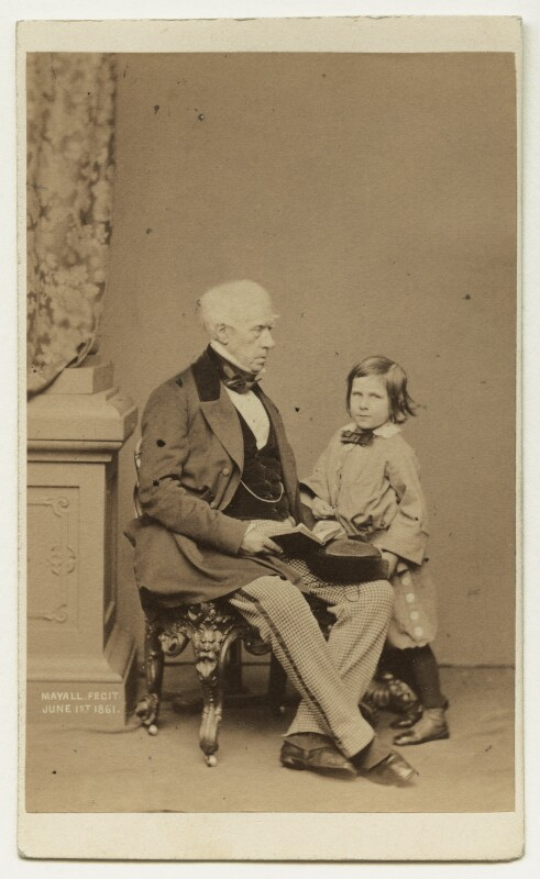 Henry Brougham, 1st Baron Brougham and Vaux with his nephew, by John Jabez Edwin Mayall, 1861 - NPG x132275 - © National Portrait Gallery, London