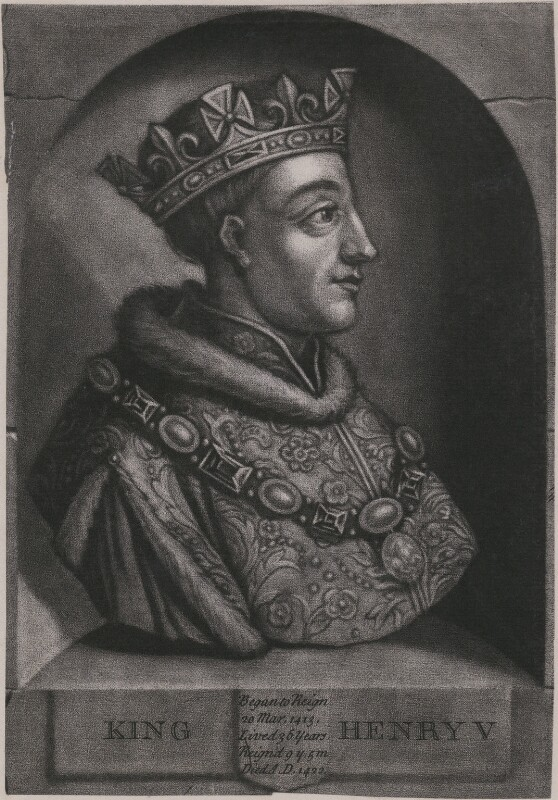 King Henry V, by John Faber Jr, after  Unknown artist, circa 1731 - NPG D33911 - © National Portrait Gallery, London