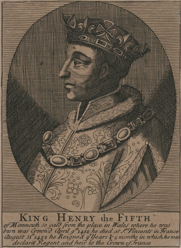 King Henry V, after Unknown artist, 18th century - NPG D33912 - © National Portrait Gallery, London