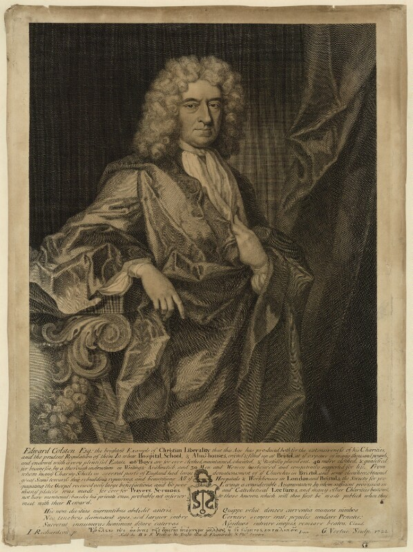 Edward Colston, by George Vertue, after  Jonathan Richardson, published 1722 - NPG D34050 - © National Portrait Gallery, London