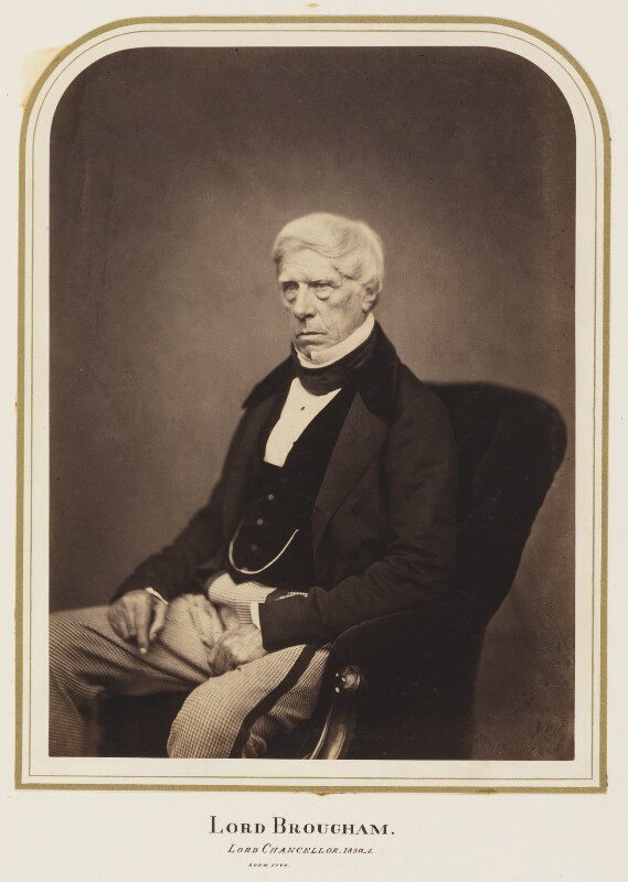Henry Brougham, 1st Baron Brougham and Vaux, by Maull & Polyblank, published August 1857 - NPG Ax7270 - © National Portrait Gallery, London