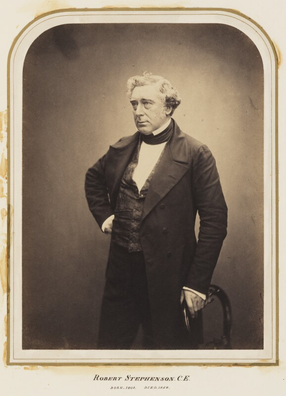 Robert Stephenson, by Maull & Polyblank, published July 1856 - NPG Ax7276 - © National Portrait Gallery, London