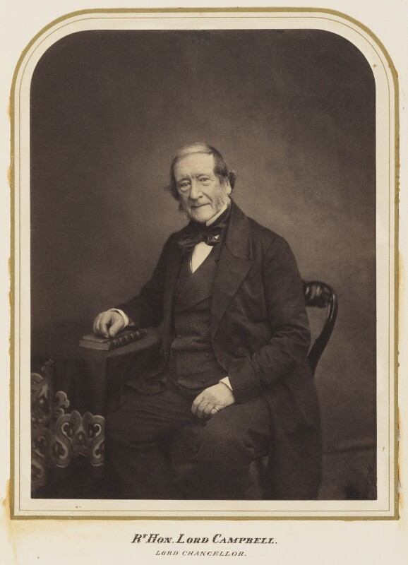 John Campbell, 1st Baron Campbell of St Andrews, by Maull & Polyblank, published February 1857 - NPG Ax7283 - © National Portrait Gallery, London