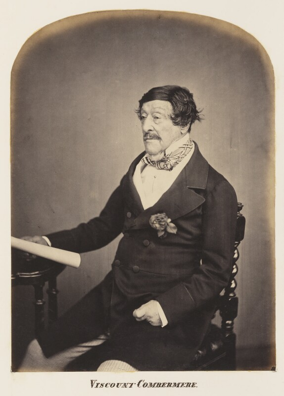 Stapleton Cotton, 1st Viscount Combermere, probably by Maull & Polyblank, mid-late 1850s - NPG Ax7305 - © National Portrait Gallery, London