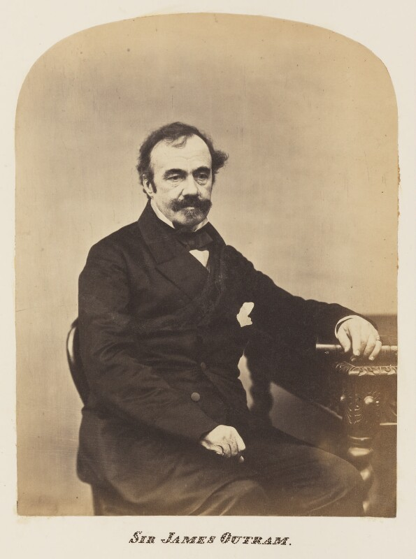 Sir James Outram, 1st Bt, probably by Maull & Polyblank, mid-late 1850s - NPG Ax7327 - © National Portrait Gallery, London