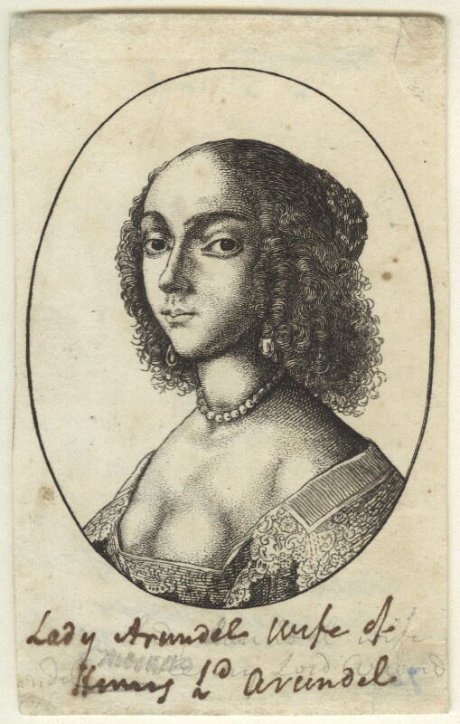 Possibly Elizabeth, Countess of Arundel and Surrey, by Wenceslaus Hollar, mid 17th century - NPG D34115 - © National Portrait Gallery, London