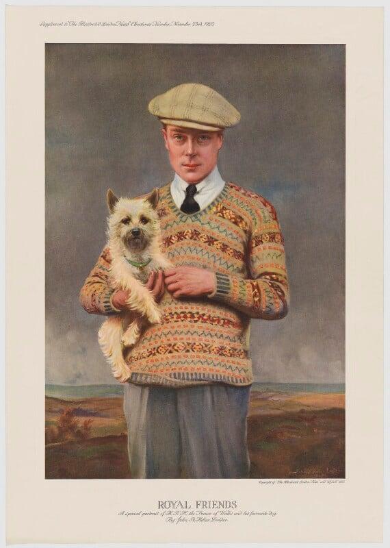 Prince Edward, Duke of Windsor (King Edward VIII), published by Illustrated London News, after  John St Helier Lander, published 23 November 1925 (1925) - NPG D34119 - © National Portrait Gallery, London