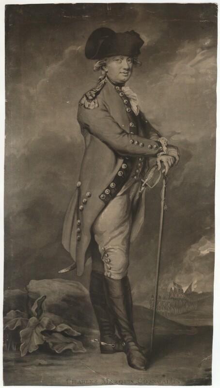 Charles Cornwallis, 1st Marquess Cornwallis, by John Jones, after  Daniel Gardner, 1793 - NPG D34143 - © National Portrait Gallery, London