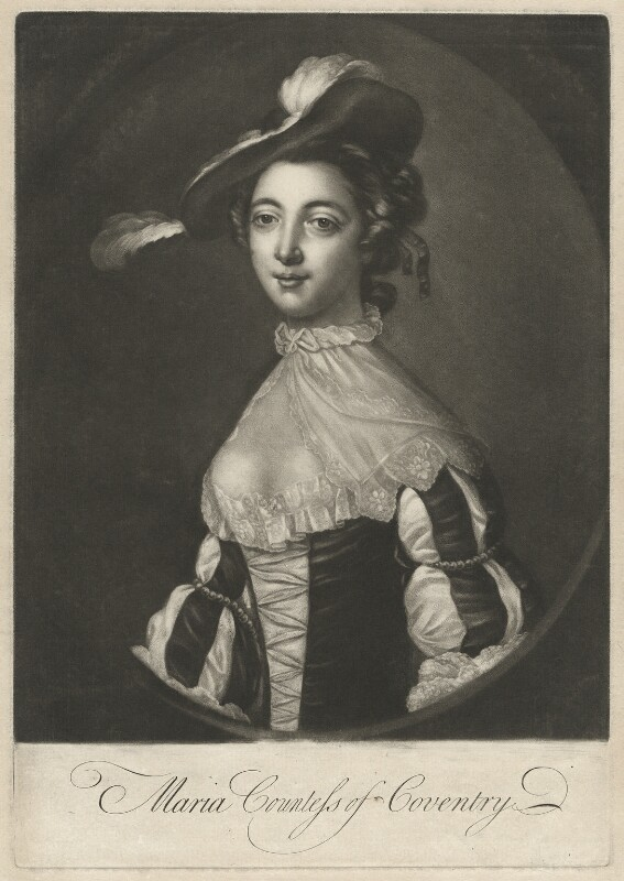 Maria (née Gunning), Countess of Coventry, after Francis Cotes, 1752 or after - NPG D34177 - © National Portrait Gallery, London