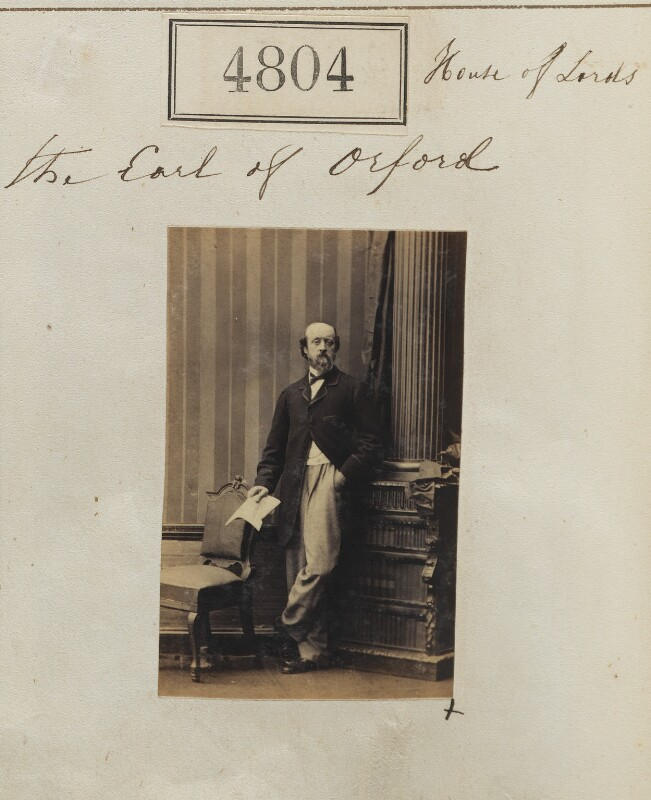 Horatio William Walpole, 4th Earl of Orford, by Camille Silvy, 6 July 1861 - NPG Ax54814 - © National Portrait Gallery, London