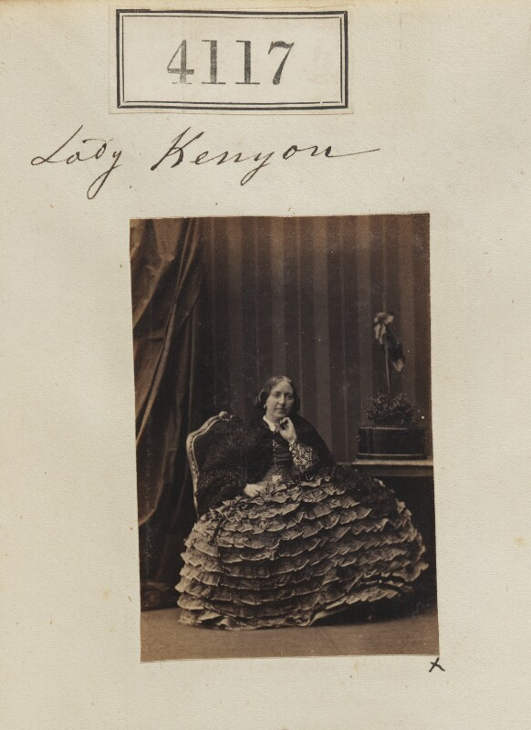 Georgina (née de Grey), Lady Kenyon, by Camille Silvy, 3 June 1861 - NPG Ax54132 - © National Portrait Gallery, London