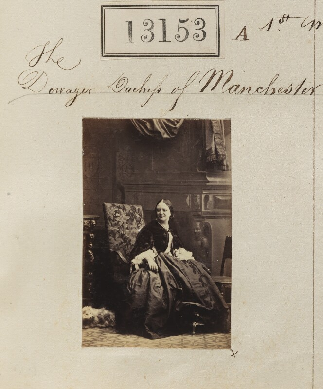 Harriet Sydney Montagu (née Dobbs), Duchess of Manchester, by Camille Silvy, 1 May 1863 - NPG Ax62794 - © National Portrait Gallery, London