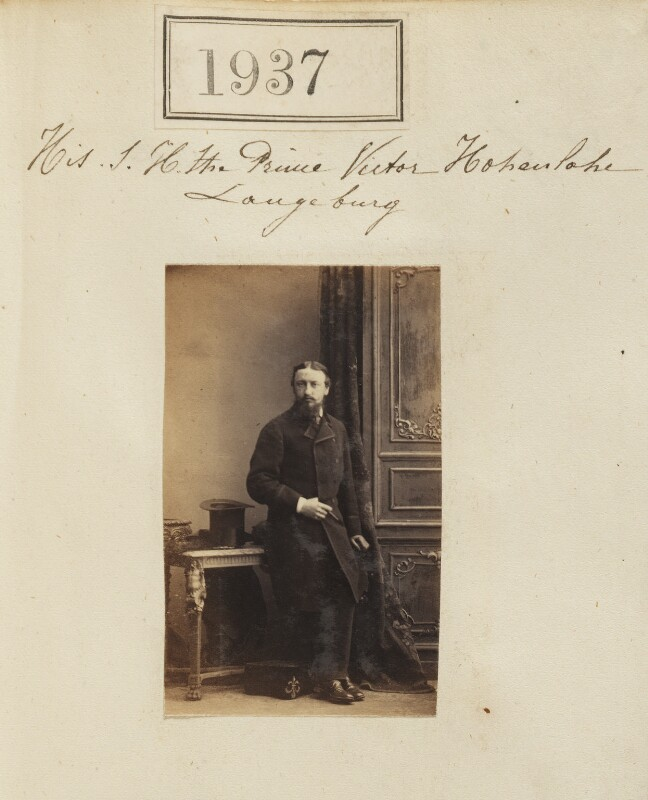 Count Gleichen (Prince Victor of Hohenlohe-Langenburg), by Camille Silvy, 24 January 1861 - NPG Ax51327 - © National Portrait Gallery, London