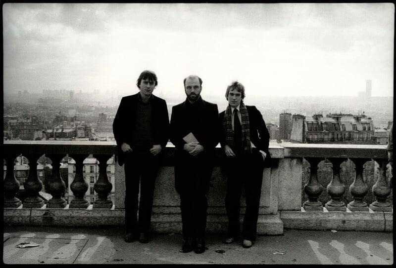 Christopher Hitchens; James Martin Fenton; Martin Amis, by Angela Gorgas, 1980 - NPG x133006 - © Angela Gorgas