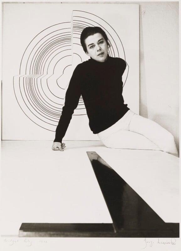 Bridget Riley, by Jorge ('J.S.') Lewinski, 1964 - NPG x13745 - If the sitter is a painter or sculptor: