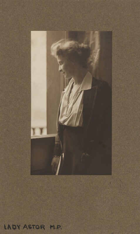Nancy Astor, Viscountess Astor, by (Mary) Olive Edis (Mrs Galsworthy), 1920 - NPG x339 - © National Portrait Gallery, London