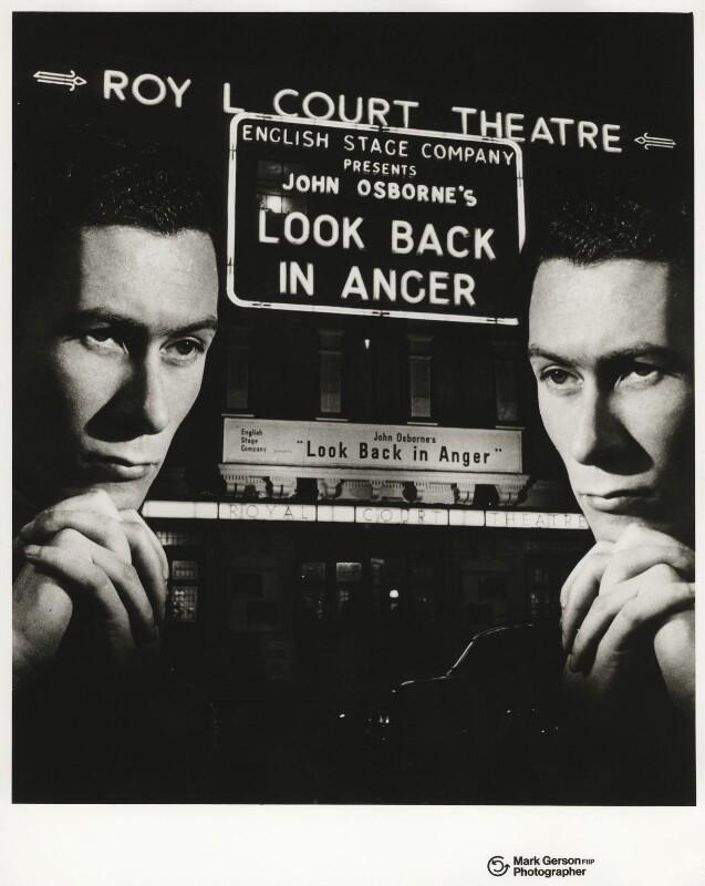 John Osborne, by Mark Gerson, 1957 - NPG x20115 - © Mark Gerson / National Portrait Gallery, London