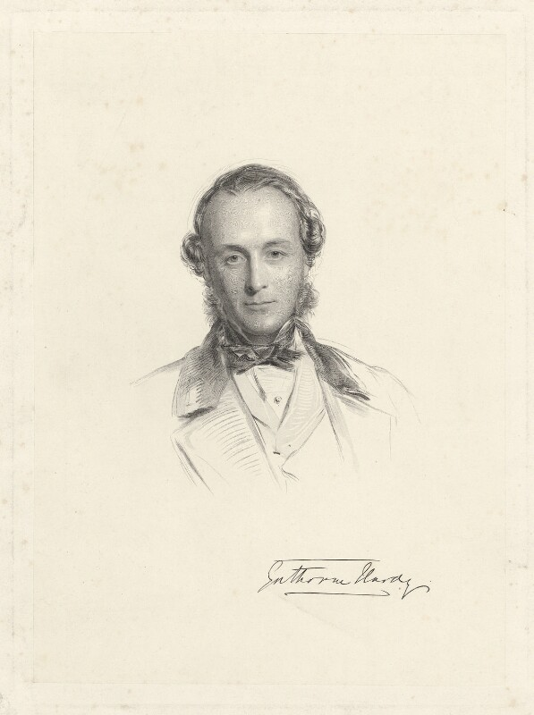 Gathorne Gathorne-Hardy, 1st Earl of Cranbrook, by William Holl Jr, after  George Richmond, 1864 or after - NPG D34210 - © National Portrait Gallery, London