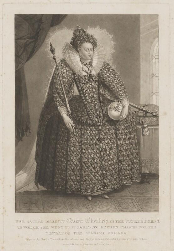 Queen Elizabeth I, by Charles Turner, after  Isaac Oliver, 1816 or after - NPG D9364 - © National Portrait Gallery, London