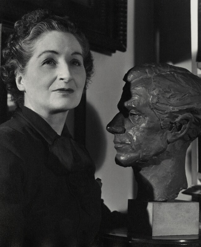 Vera Brittain, by Mark Gerson, January 1954 - NPG x4305 - © Mark Gerson / National Portrait Gallery, London