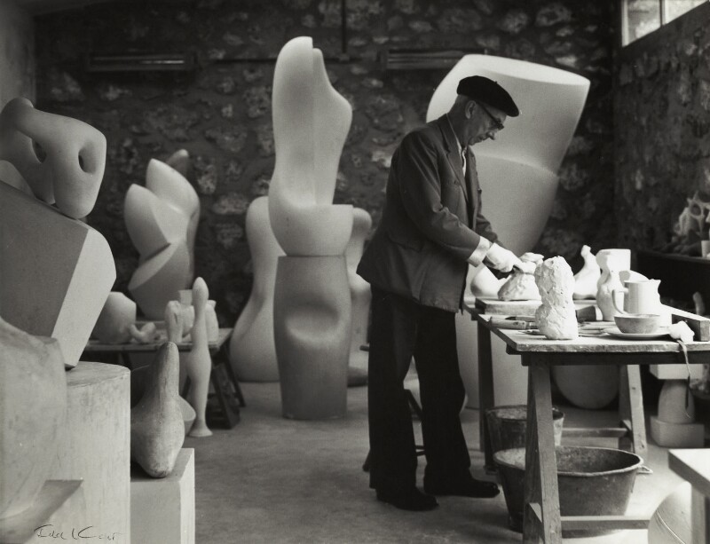 Jean Arp, by Ida Kar, late 1950s - NPG x132407 - © National Portrait Gallery, London