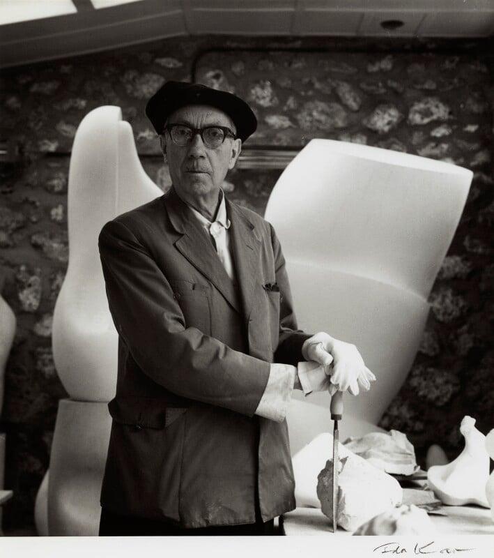 Jean Arp, by Ida Kar, late 1950s - NPG x132408 - © National Portrait Gallery, London