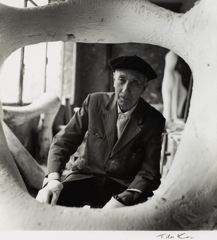 Jean Arp, by Ida Kar, late 1950s - NPG x132409 - © National Portrait Gallery, London