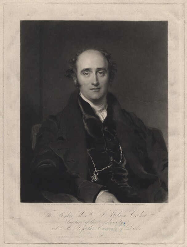 John Wilson Croker, by Samuel Cousins, published by and after  Sir Thomas Lawrence, published June 1829 - NPG D34239 - © National Portrait Gallery, London