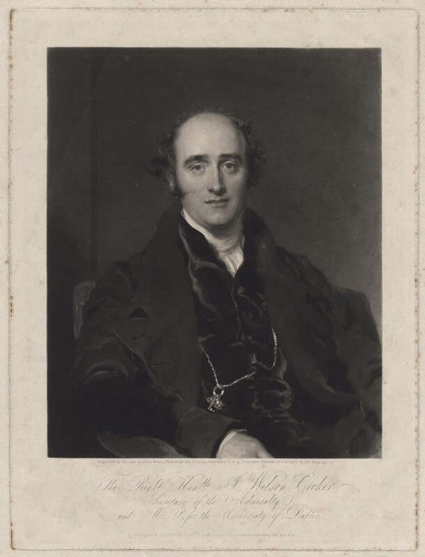 John Wilson Croker, by Samuel Cousins, published by and after  Sir Thomas Lawrence, published June 1829 - NPG D34240 - © National Portrait Gallery, London