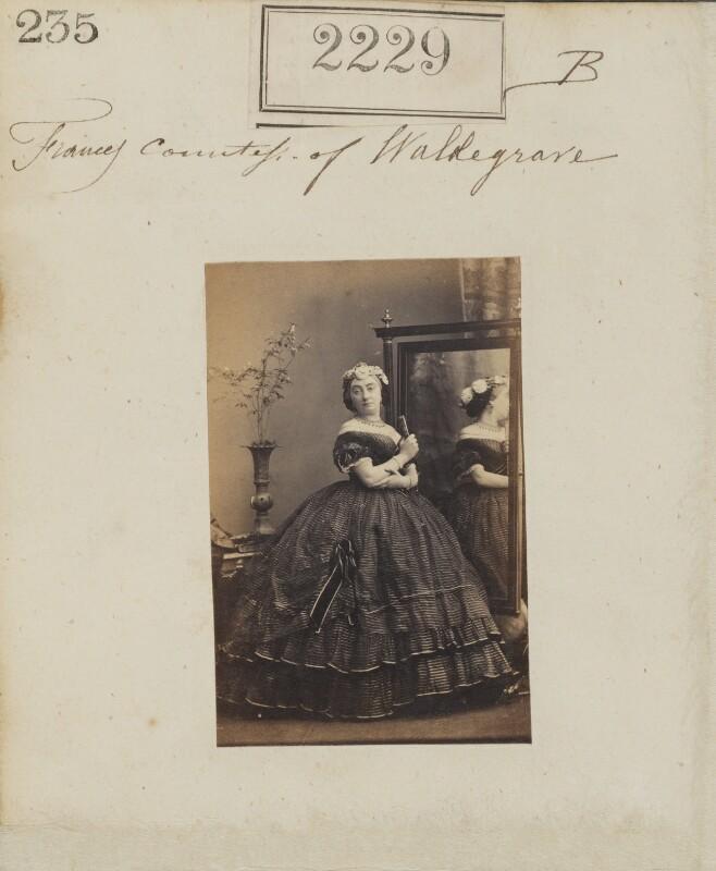 Frances Elizabeth Anne (née Braham), Countess Waldegrave, by Camille Silvy, 24 February 1861 - NPG Ax51617 - © National Portrait Gallery, London