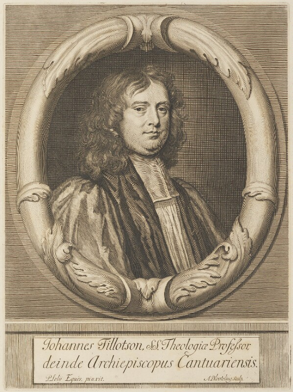 John Tillotson, by Abraham Blooteling (Bloteling), after  Sir Peter Lely, circa 1672-1690 (1672) - NPG D34304 - © National Portrait Gallery, London