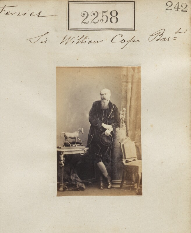 Sir William Henry Cope, 12th Bt, by Camille Silvy, 28 February 1861 - NPG Ax51646 - © National Portrait Gallery, London