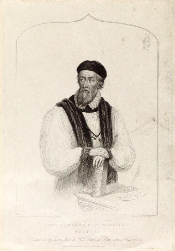 Hugh Latimer, by Henry Bryan Hall, published by  C. Birch, after  James Warren Childe, published May 1839 - NPG D34329 - © National Portrait Gallery, London