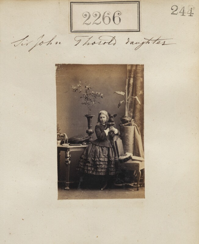 Edith Mary Thorold, by Camille Silvy, 28 February 1861 - NPG Ax51654 - © National Portrait Gallery, London