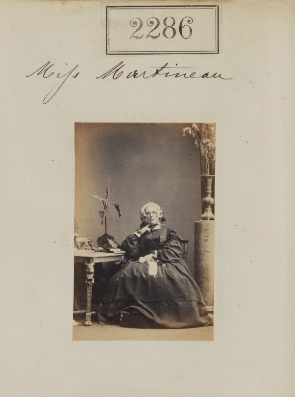 Harriet Martineau, by Camille Silvy, 1 March 1861 - NPG Ax51674 - © National Portrait Gallery, London