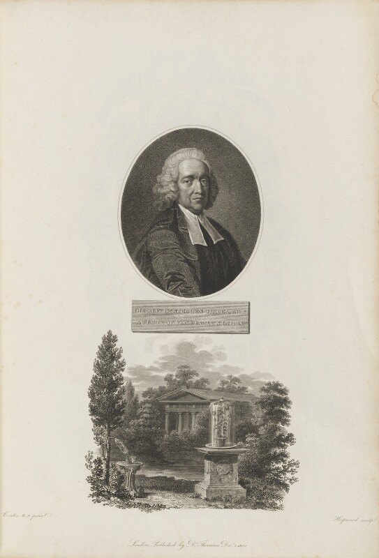 Stephen Hales, by William Hopwood, published by  Robert John Thornton, after  Thomas Hudson, and after  Coates, published 1 December 1800 (circa 1759) - NPG D34344 - © National Portrait Gallery, London