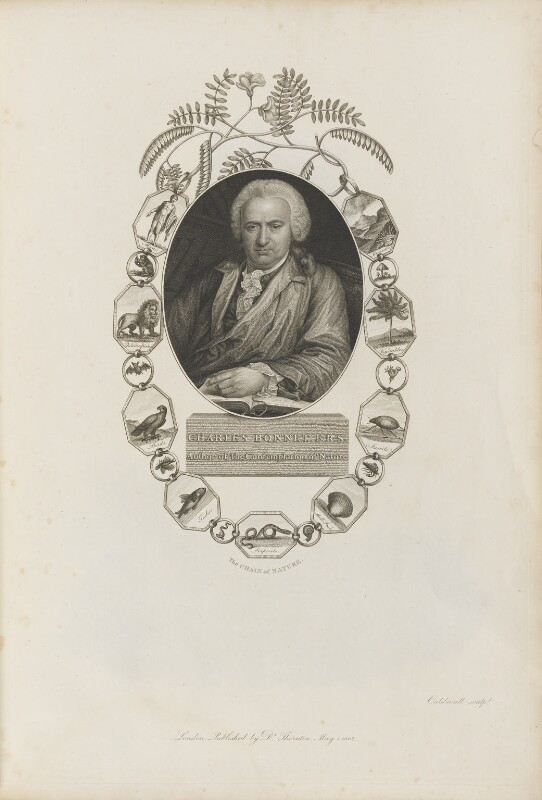 Charles Bonnet, by James Caldwall, published by  Robert John Thornton, published 1 May 1802 - NPG D34345 - © National Portrait Gallery, London